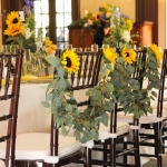 Wedding chair garland