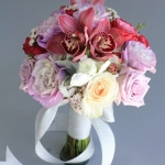 dreamflowerscom-lavender-roses-pink-orchids-ivory-roses-was-dusty-miller-bridesmaids-bouquet (3)
