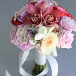 dreamflowerscom-lavender-roses-pink-orchids-ivory-roses-was-dusty-miller-bridesmaids-bouquet (4)