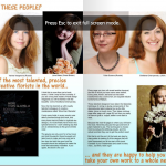 An article about More than Glamelia book
