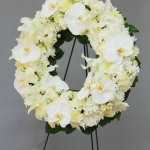 funeral wreath with orchids