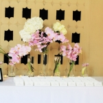 Escort cards table decor