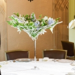 modern-centerpiece-martini-vase-white-blue-flowers-lilies-roses-by_dream-flowers_dot_com-5
