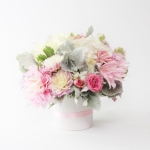 white-pink-wedding-low-centerpiece-dreamflowerscom