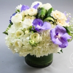 dreamflowerscom-white-purple-low-centerpiece