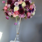Purple-lavender-pink-tall-centerpiece
