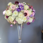 White-lavender-pink-tall-centerpiece