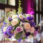 Soft-purple-white-green-tall-centerpiece-martini-vase