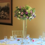 Soft-purple-white-green-tall-centerpiece