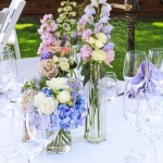 Vintage blue and lilac wedding. Hollies House Santa Cruz