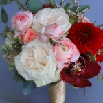 bridesmaids-bouquet-of-blush-garden-roses-and-ranunculus-dahlias-spray-roses-calthinia-and-cymbydium-orchids_29377215662_o