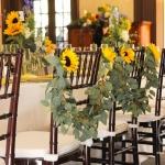 Wedding chair garland