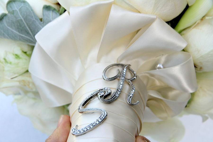 Bridal bouquet wraps or handle ideas for a wedding bouquet