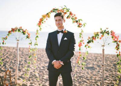 Black-Tie-Bride-romantic-beach-wedding-inspiration-shoot-from-dreamflowerscom