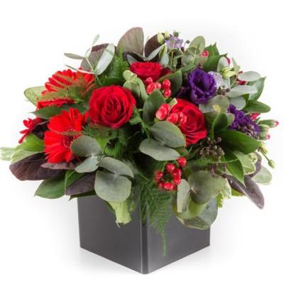 flower arrangement cube container