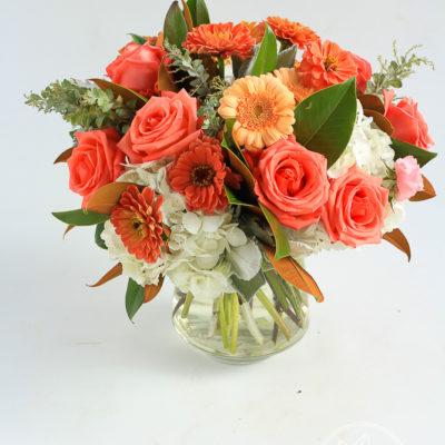 Vase flower arrangement Sweet Tangerine