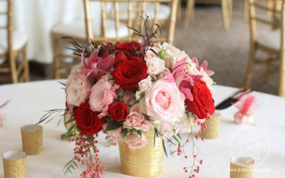 White, Cream, Apple Red, Blush Wedding in Sequoyah Country Club, Oakland