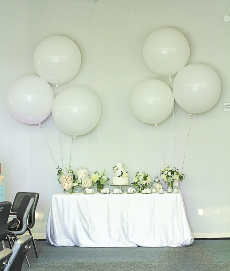 White and Green Wedding - Sweets Table & Cake