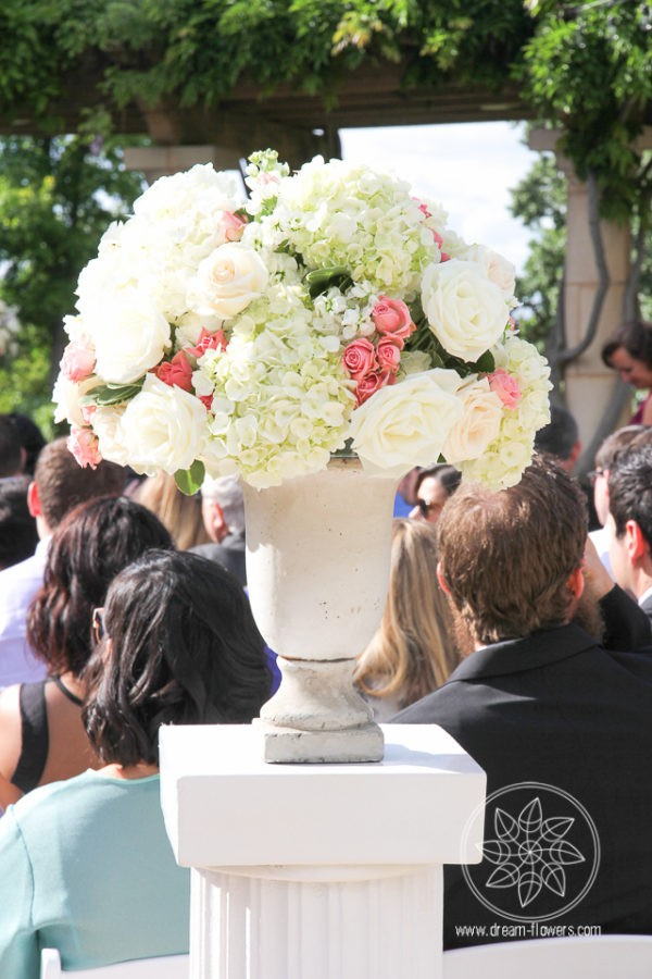 Ceremony arrangements for the outdoor location