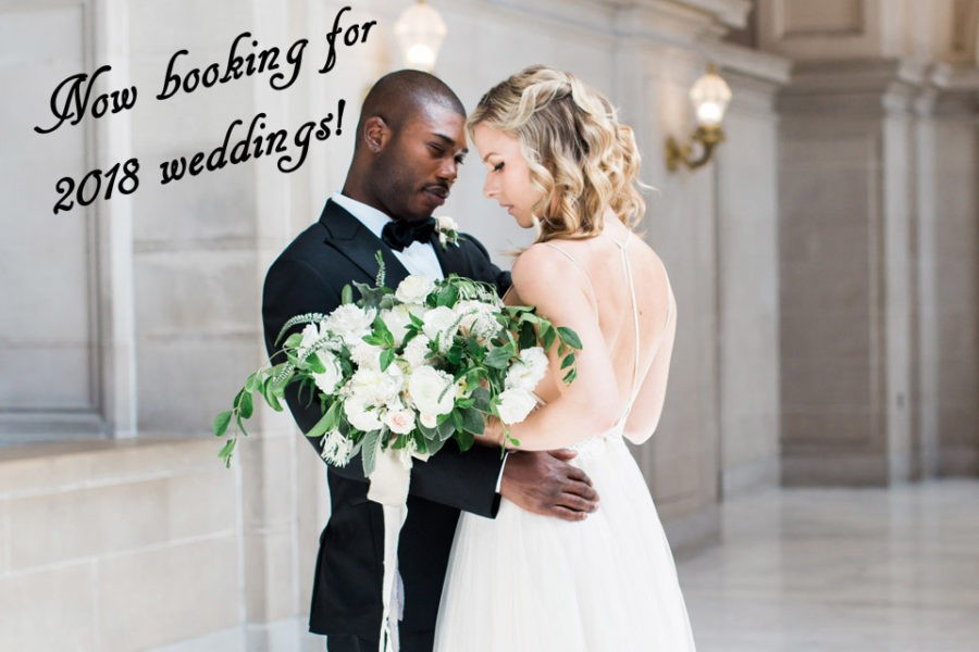Now booking for 2018 weddings!