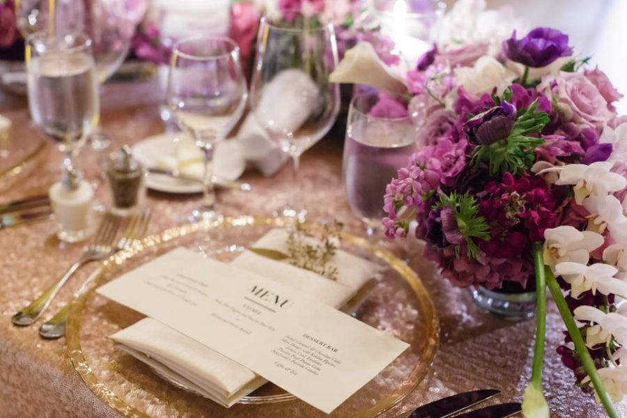 Lavender Lilac Purple Gold Blush wedding Asian Art Museum
