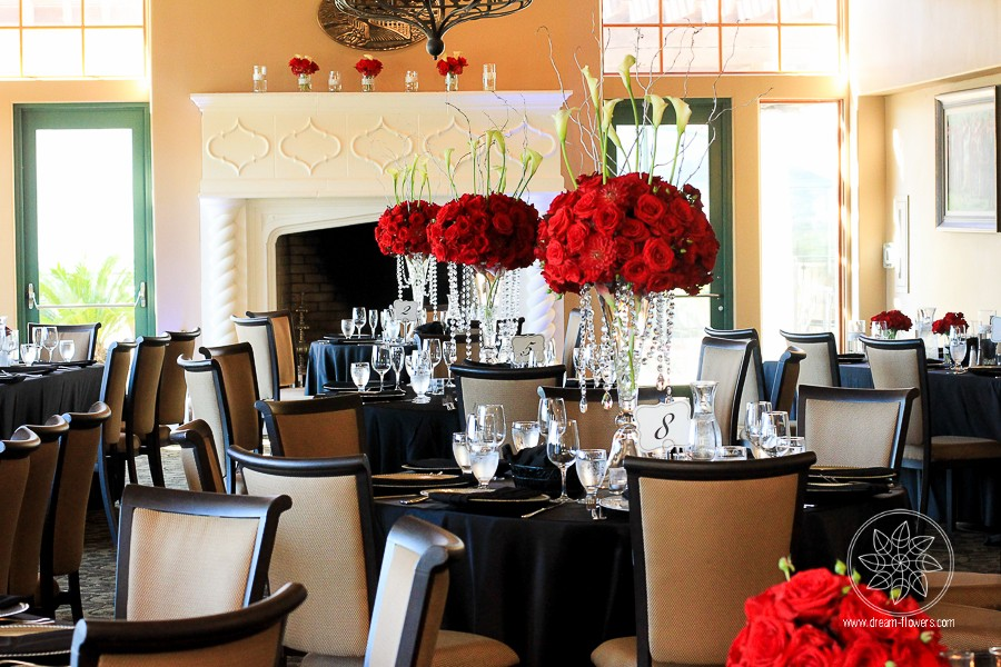 Classy and Dramatic Red Rose Wedding. Natasha and Jeff. Bridges Golf Club, San Ramon