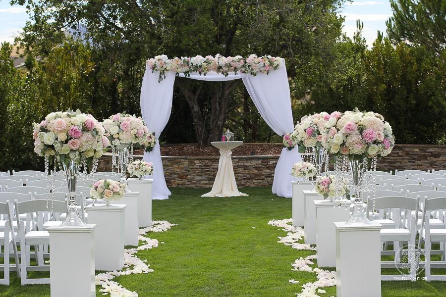 Dream of a summer night wedding. Courtney and Raymond. Club Los Meganos, Brentwood