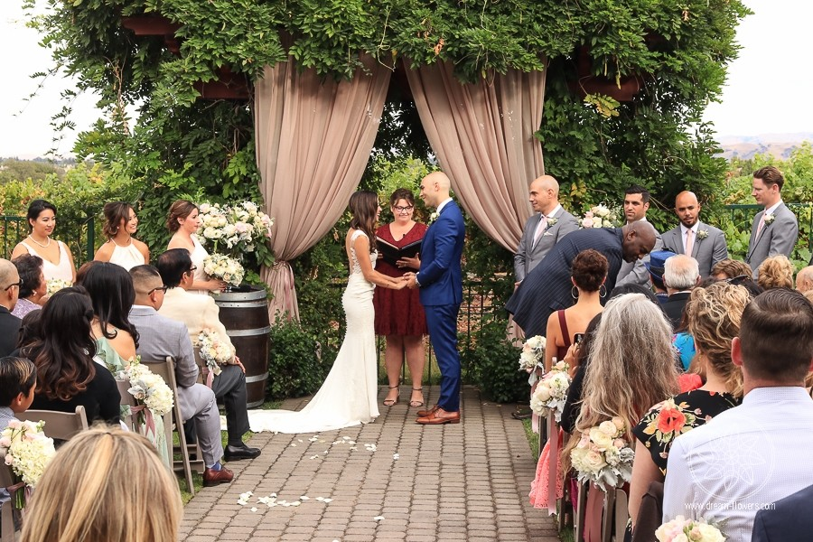 Romantic Garden Wedding at Palm Event Center. Roma and Sam